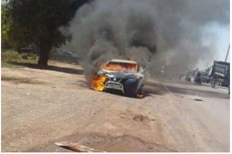 Photo of نجاة سائقة سيارة بعد اندلاع حريق مهول بسيارتها بمراكش