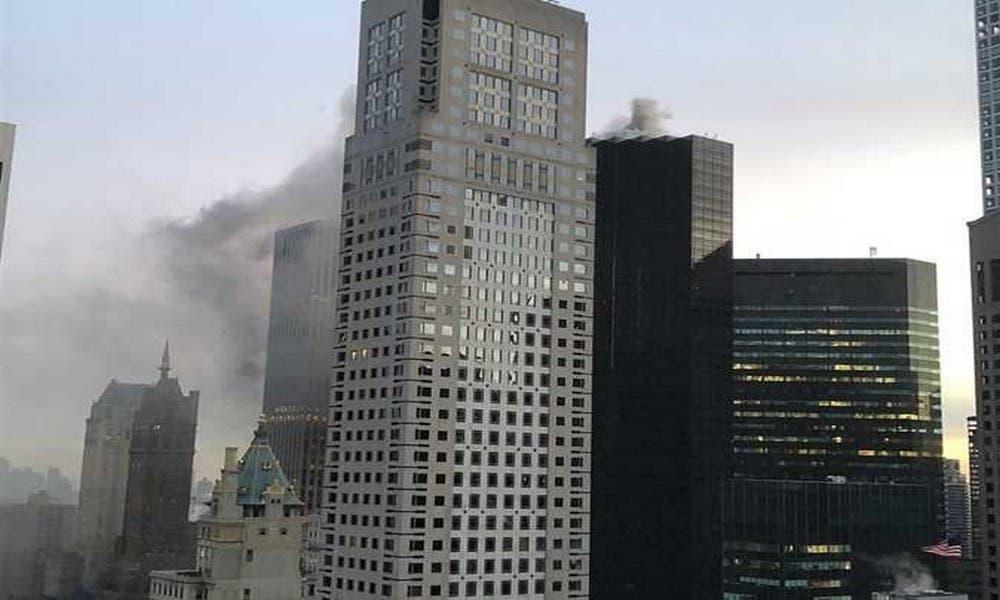 "Photo of حريق يشب ببرج ""ترامب"" وسط مانهاتن بنيويورك"