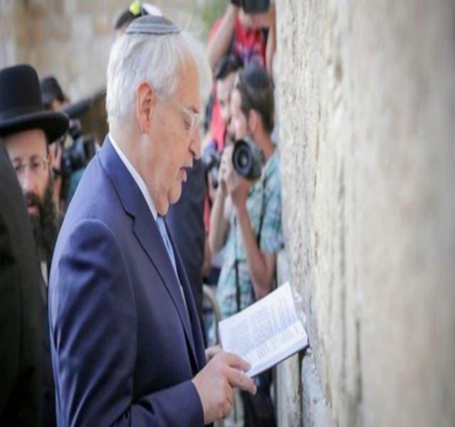 Photo of سفير واشنطن في إسرائيل للفلسطينيين: لا تنشدوا السلام بعد الآن