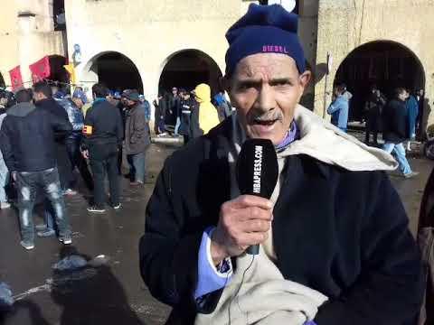 Photo of حضار ببطن مفتوحة يطالب بحقه في السوق النموذجي بسطات