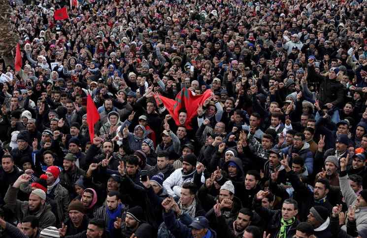 """Photo of حراك جرادة : مسيرات بالأحياء وترصيص لصفوف """"لجنة المعتقل """""""