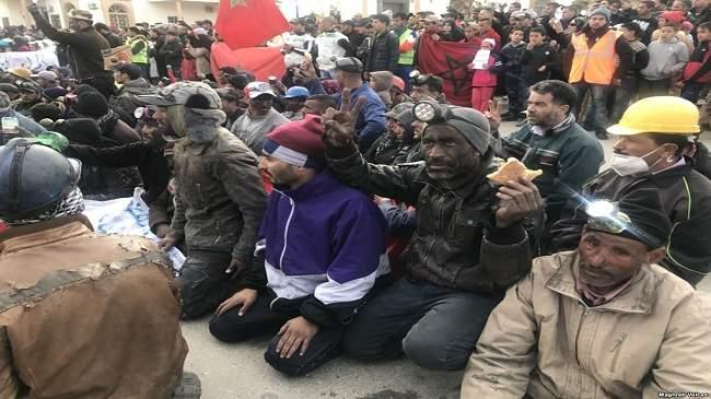 "Photo of الاحتجاجات تعود إلى خنيفرة تضامنا مع أهالي جرادة"""