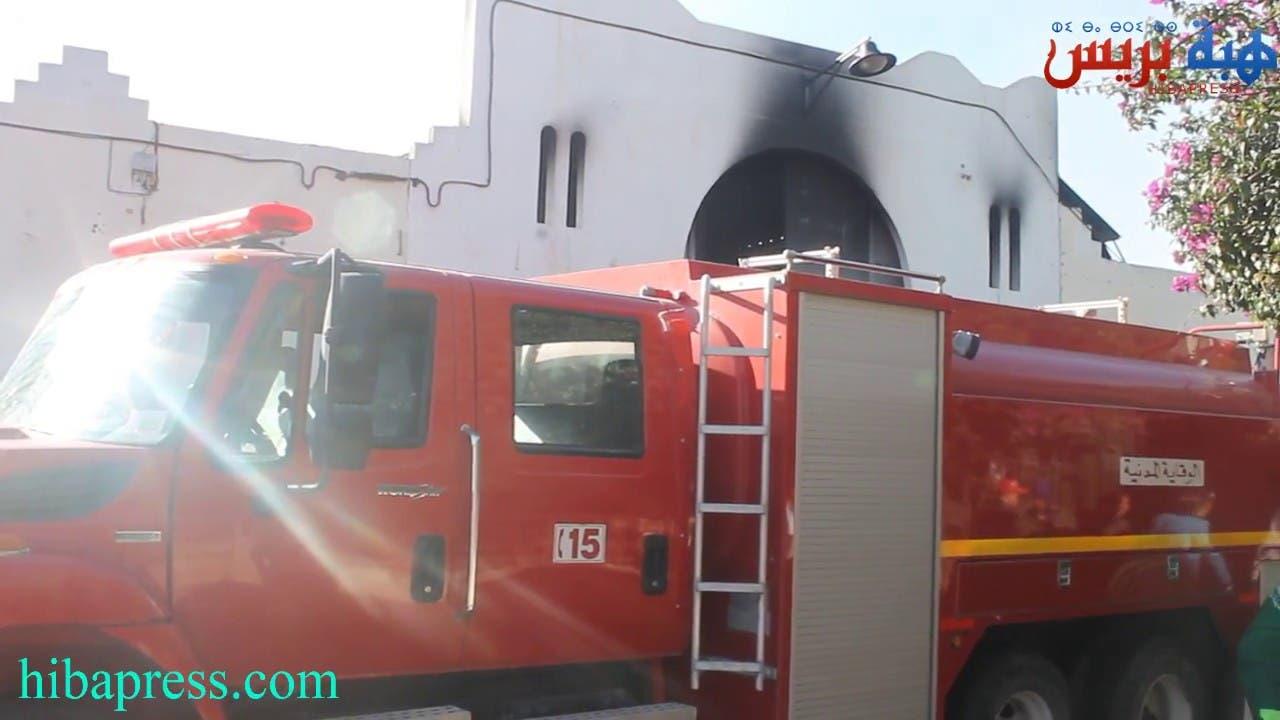 Photo of هذا هو الخراب الذي تركه الحريق الذي التهم أكبر سوق بالجنوب بانزكان