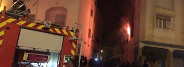 """حريق ضخم ببرشيد و حالات إغماء بسبب """"اقتلاع"""" عداد الكهرباء"""