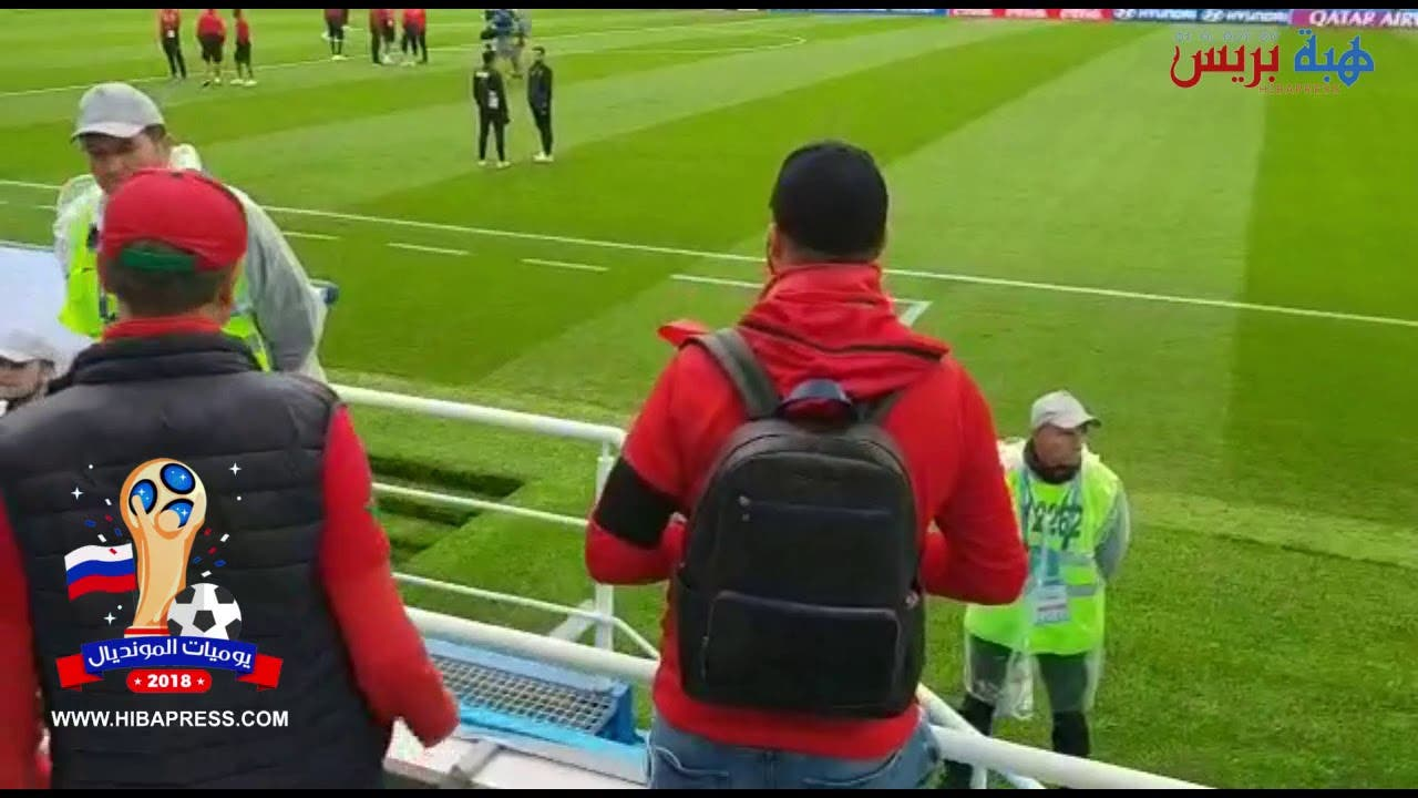 Photo of حصري  حكام مقابلة المغرب واسبانية  يشاهدون احتجاج مغربي على الفيفا من وسط الملعب