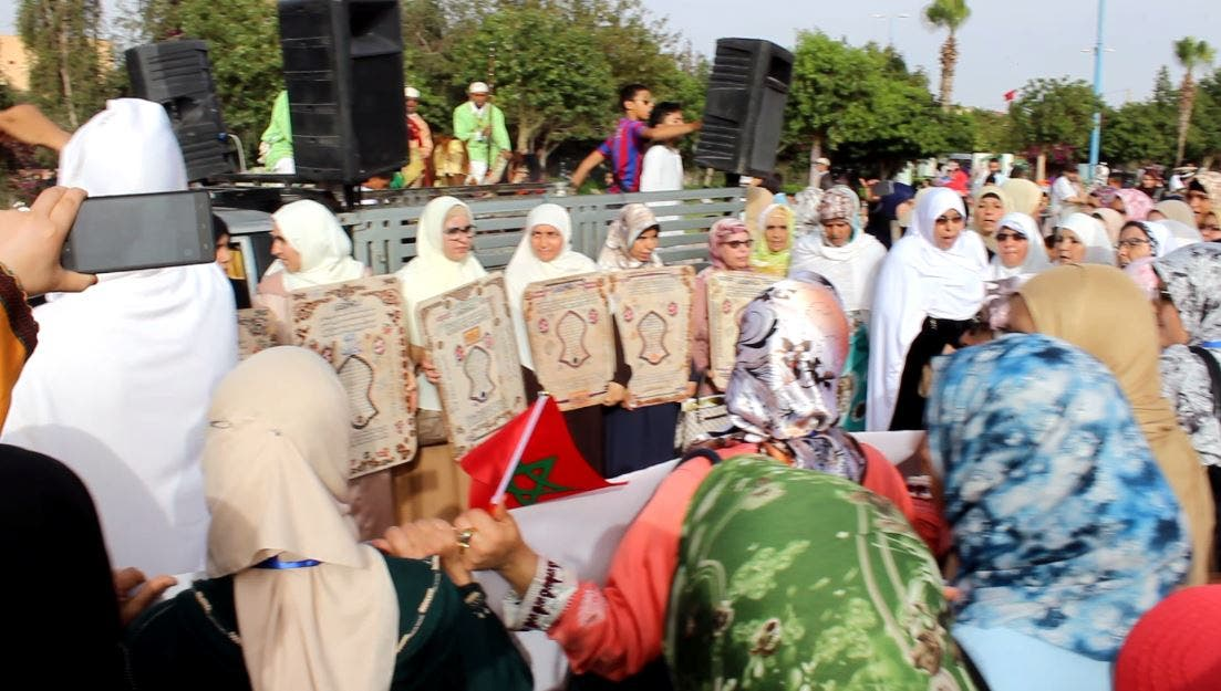 Photo of أولاد تايمة: كتاب مسجد السلام يكرم الخاتمات لكتاب رب الأنام