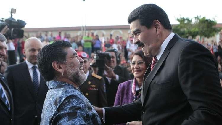 Photo of مارادونا يتضامن مع مادورو ويندد بمحاولة اغتياله