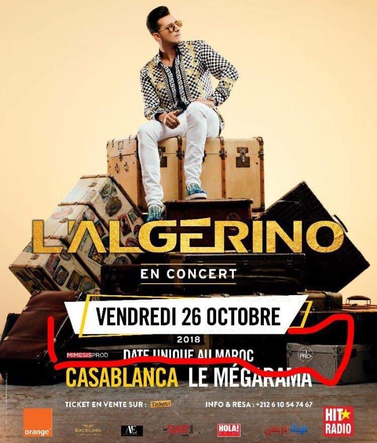 """Photo of للمرة الأولى .. """"l'algérino"""" يحيي حفلا كبيرا بالدار البيضاء"""