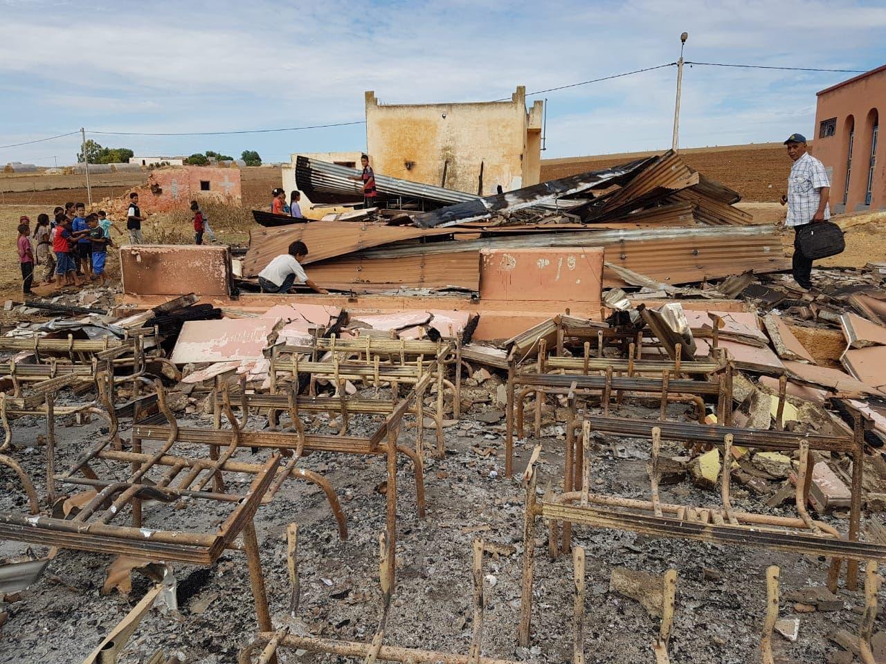 Photo of خطير سطات ..حريق يأتي على مؤسسة تعليمية بالكامل