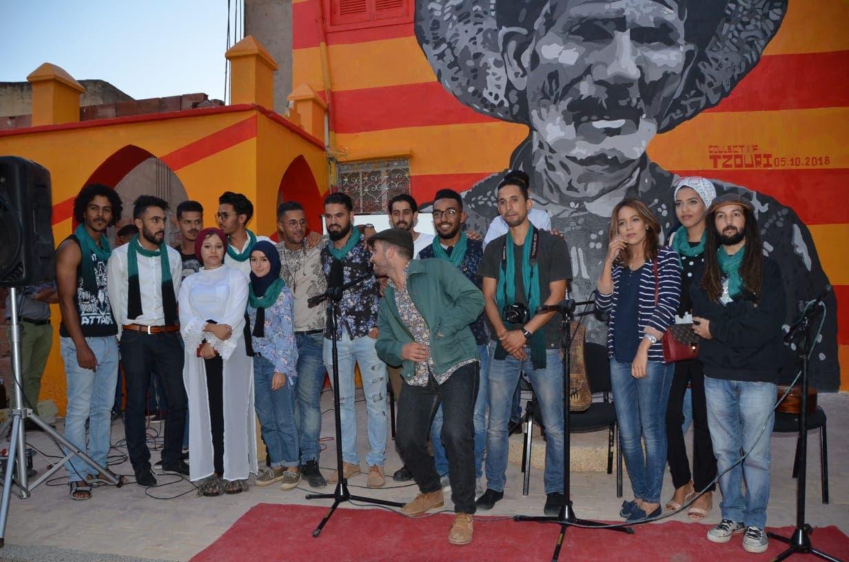 Photo of وجدة… مجموعة تزوري تبهر الحضور بخربشاتها الفنية