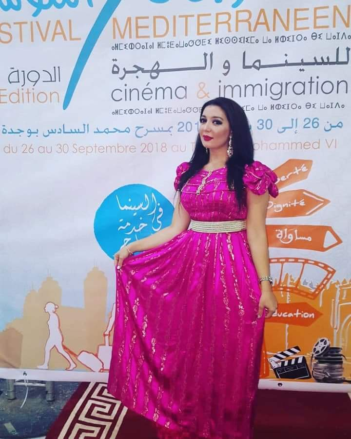 Photo of وفاء ميراس تتألق في تقديم الدورة السابعة لفعاليات المهرجان المتوسطي للسينما والهجرة بوجدة