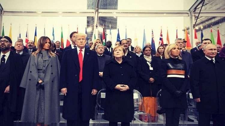 Photo of ترامب: قلت لقادة العالم في باريس إنه يتعين على الدول الغنية أن تدفع مقابل حمايتها