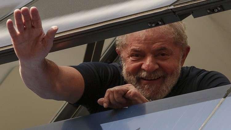 Photo of رئيس البرازيل الأسبق دا سيلفا يخرج من السجن لساعات