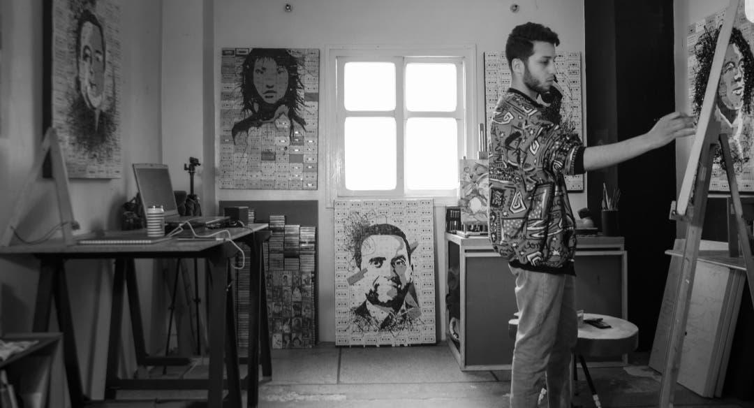 "Photo of الفنان التشكيلي يونس ميلودي ينظم معرض ""كاسيطا2"""