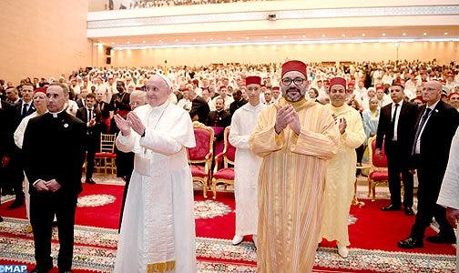 Photo of الملك و البابا يقومان بزيارة لمعهد محمد السادس لتكوين الأئمة