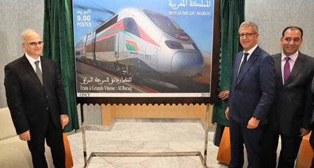 "Photo of إصدار طابع بريدي جديد خاص بالقطار الفائق السرعة ""البراق"""