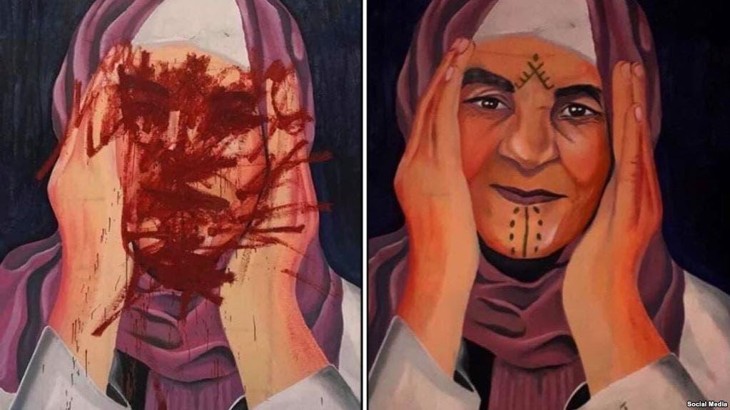 Photo of سخط واسع بسبب تدمير لوحة فنية بأحد أحياء سوق الأربعاء