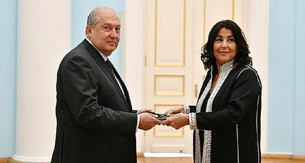Photo of سفيرة المغرب لدى أرمينيا تقدم أوراق اعتمادها للرئيس أرمين ساركيسيان