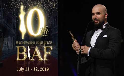 """Photo of تتويج الدوزي بدرع مهرجان """"بياف"""" الدولي في بيروت"""