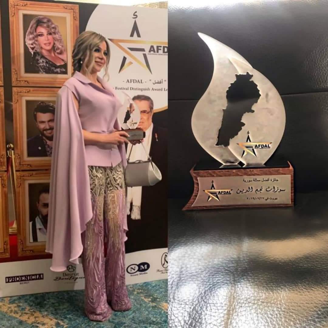 Photo of سوزان نجم الدين تتوج كافضل ممثلة سورية عربية بمهرجان بيروث