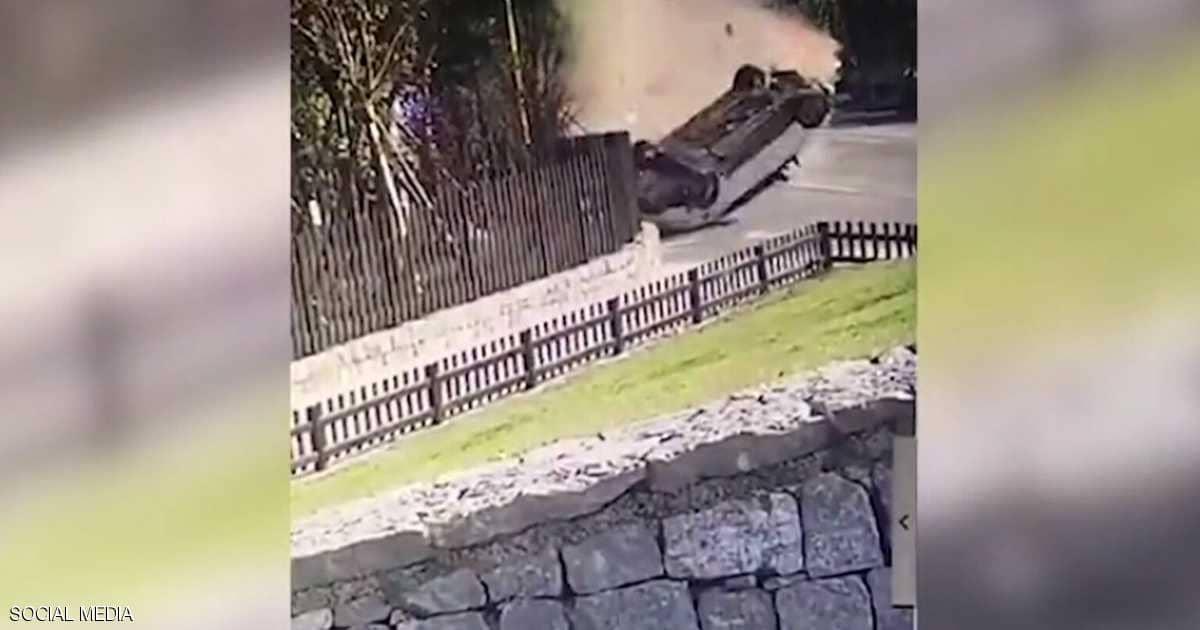 Photo of فيديو يوثق نجاة امرأة من الموت مرتين خلال ثوان