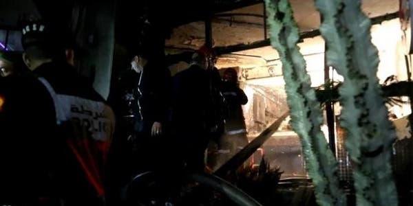 "Photo of سلطات طنجة: حريق مقهى ""الشيشة"" شب بسبب تماس كهربائي"