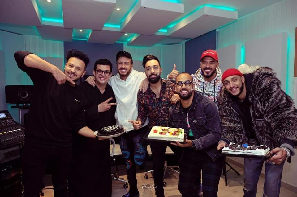 Photo of مجموعة فناير وسعد المجرد يحتفلون ب امين الحناوي