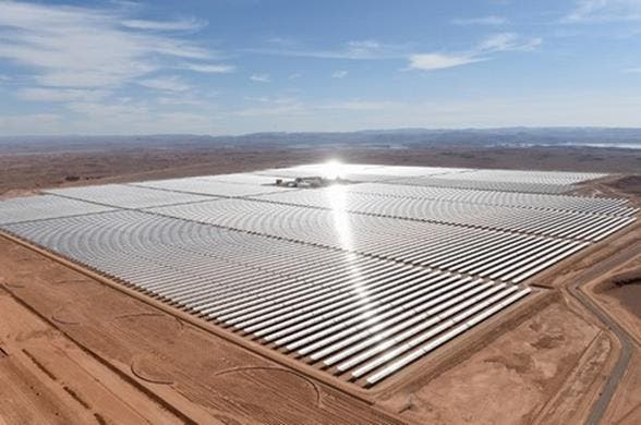 "Photo of مجلة فرنسية :""نور 3″، أكبر برج للطاقة الشمسية في العالم يسير بالمغرب قدما"