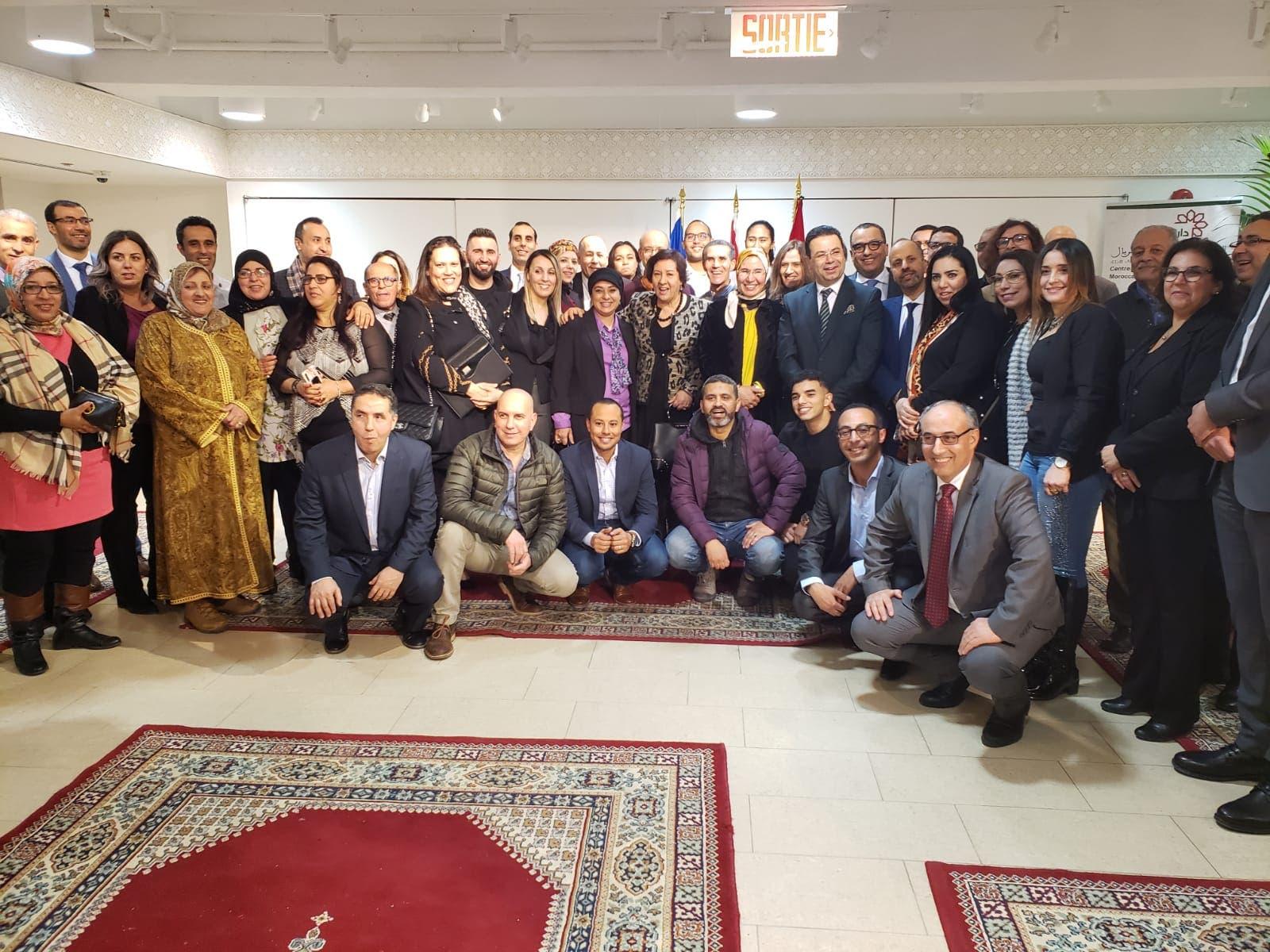 Photo of لقاء يجمع أفراد الجالية في كندا بالوزيرة نزهة الوفي