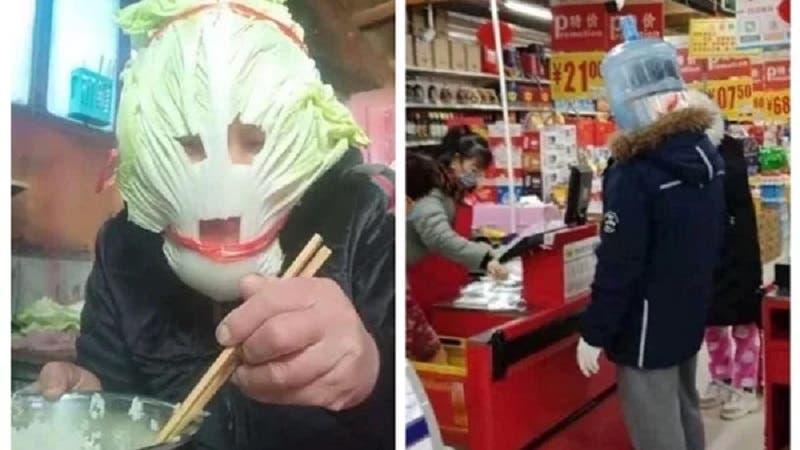 Photo of شاهد صينيون يرتدون أشياءً غريبة للنجاة من كورونا .. صور