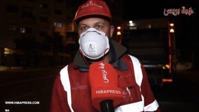 "Photo of عُمال النظافة …جنود مجندة أناء الليل وأطراف النهار لمواجهة فيروس ""كورونا"" المرعب بشوارع البيضاء"