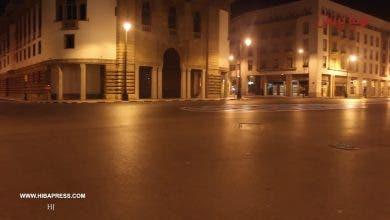 Photo of شوارع الرباط فارغة ليلا بعد فرض قانون الطوارئ