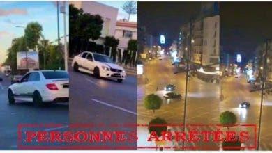 """Photo of بعد تداول فيديو """"التفحيط"""" ..أمن البيضاء يعتقل ثلاثة شبان """"ولاد الفشوش"""" و يحجز سياراتهم"""