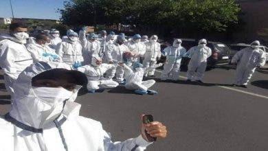 "Photo of جنود جائحة ""كورونا"" يدعون الحكومة للتفاعل مع ملفهم المطلبي"