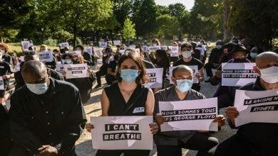 Photo of مظاهرات احتجاجية بفرنسا لمقتل جورج فلويد بأمريكا