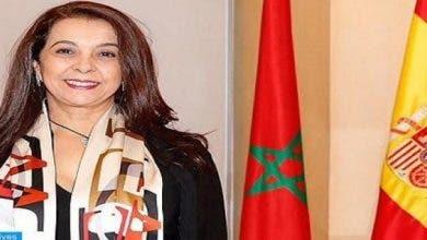 """Photo of سفيرة المغرب لدى إسبانيا تستقبل أم الضحية"""" إلياس الطاهري"""" بمقر سفارة مدريد"""