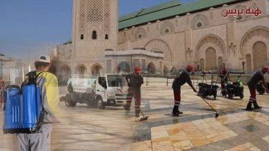 Photo of بعد طول انتظار …حملة تعقيم كبرى لمسجد الحسن الثاني استعداداً لاستقبال المصلين