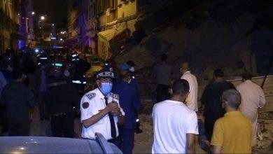 Photo of إنهيار منزل بمنطقة بنمسيك وحالة من الهلع والبحث عن أحد المفقودين