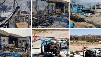 """Photo of أكادير : فرضية عمل """" مدبر"""" في حريق مطعم بشاطئ 25"""