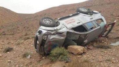 Photo of تارودانت : إنقلاب سيارة إسعاف على متنها إمرأة حامل