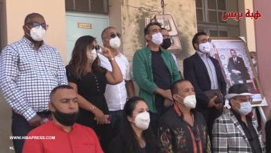 "Photo of نخبة من الفنانين المغاربة في حملة تحسيسية ضد ""كورونا "" بثانوية مولاي رشيد"